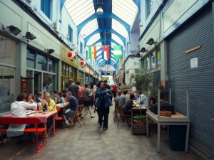 Brixton Village has become a popular destination for eating and drinking