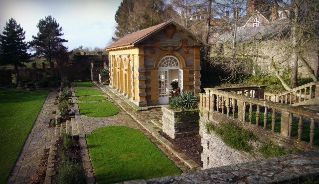 Sir Edwin Lutyens's Orangery at Hestcombe, Somerset. This mid and late 18th-century landscaped garden, originally created by Coplestone Warre Bampfylde, has early 20th-century  formal gardens designed by Lutyens with planting by Gertrude Jekyll.  Registered Grade I.