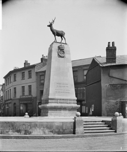 The war memorial in Hertford, Hertfordshire, designed by Sir Aston Webb, RA. The names of those who died in the Second World War were later also inscribed.