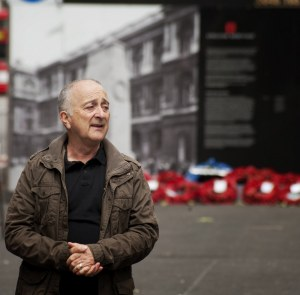 Sir Tony Robinson at the Cenotaph in June for filming with Time Team.
