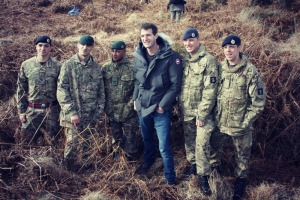 Dan Snow and servicemen at Browndown Battlefield