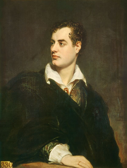 Byron in 1824, by Thomas Phillips (1770-1845)