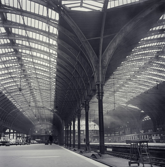 Isambard Kingdom Brunel's trainshed at Paddington is one of the wonders of British architecture. The first real cathedral of the railway age, with columns supporting the innovative, ridge-and-furrow glazed roof, it was both decorative and ingeniously functional.  Hidden pipes drained rainwater underneath the concourse floor, while the roof's iron beams were pierced with geometric shapes to help the cleaners fit the scaffolding necessary to clean this complex structure.