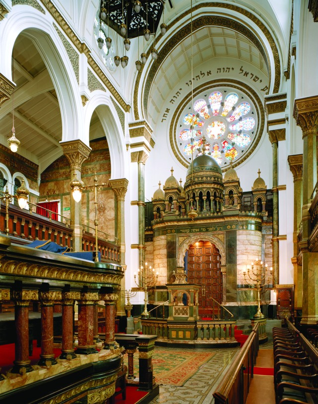 New West End Synagogue Interior view looking towards the Ark