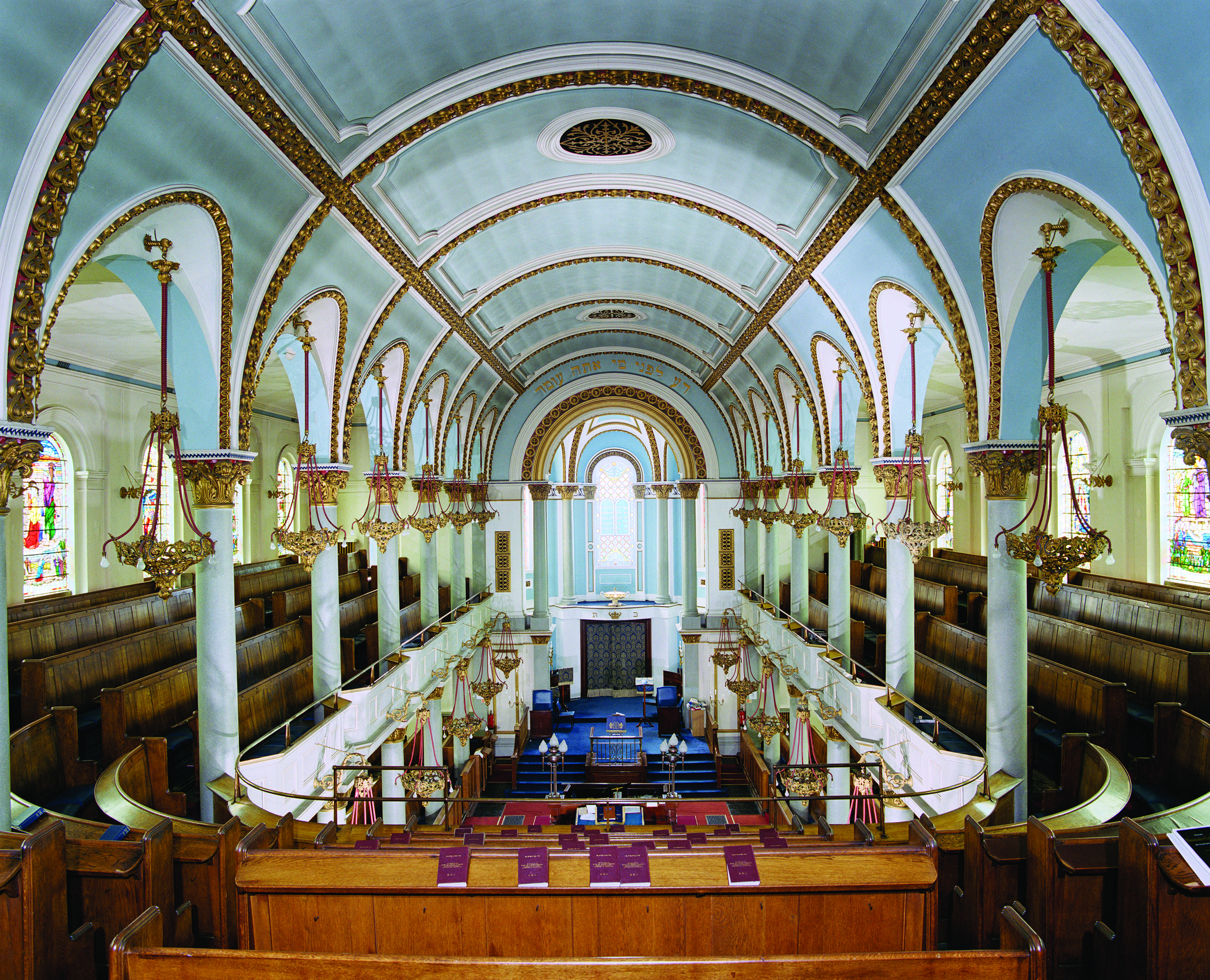 Top Synagogues on modern church interior