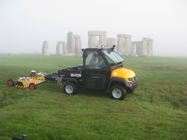 Geophysicists in action at Stonehenge