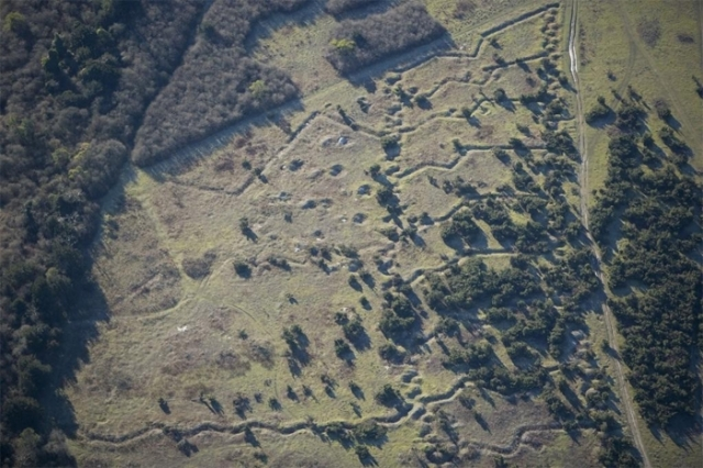 Training trenches at Beacon Hill, Salisbury Plain, Wiltshire (NMR24863-047)