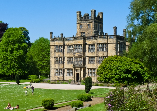 Gawthorpe Hall, Ightenhill, Lancashire, listed Grade I. It is thought that Charlotte caught a chill whilst walking in the grounds of here which led to her death in 1855. (c) John6536 via Flickr