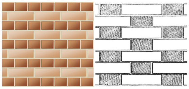 bricks collage