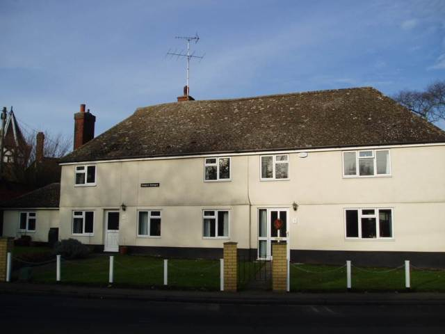 Cooper's Cottages in Basildon. Although seemingly unassuming from the outside, inside you can see the medieval timber structure so this is listed at Grade II.