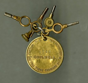 A Chilwell worker's identity tag made of non-sparking safety brass. Image courtesy of  Alan Johnson.