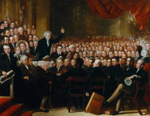 NPG 599; The Anti-Slavery Society Convention, 1840 by Benjamin Robert Haydon