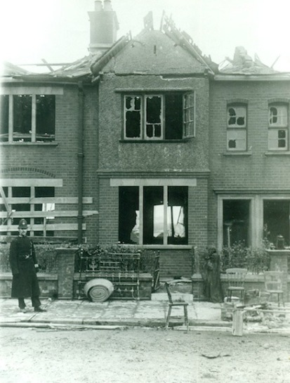 Firemen's own homes in Fort Street were destroyed. Image courtesy Newham Archives & Local Studies Library.