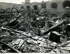 Buildings were flattened or reduced to rubble. © Historic England