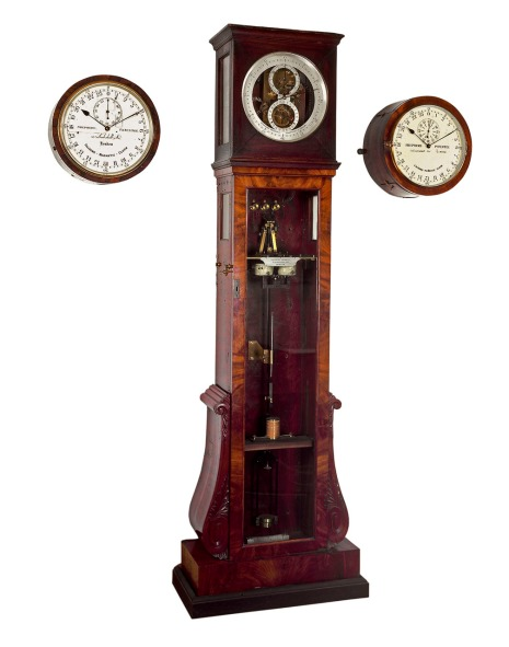 The galvanic master clock with slave dials, made by Charles Shepherd in 1852