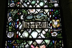 Detail of window in Bradford Cathedral commemorating the 6th Battalion West Yorkshire Regiment who fought at the Battle of Cambrai. Image © Rex Gregson.