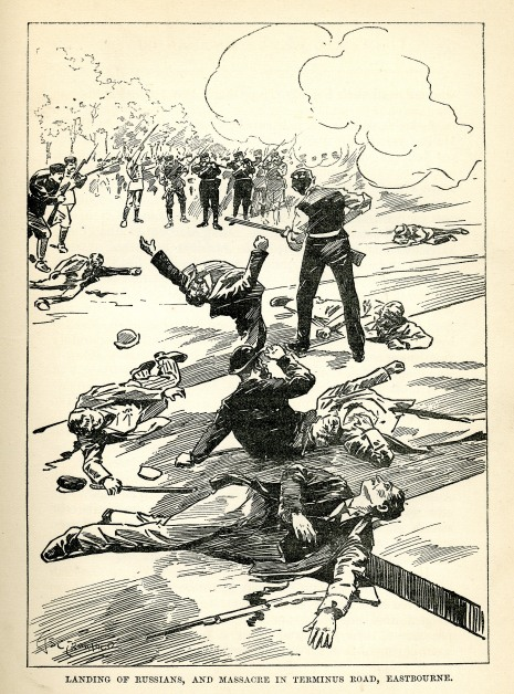 invasion scare cartoon LeQueux1894