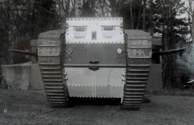 mother tank on trial burton park jan 1916 courtesy richard pullen