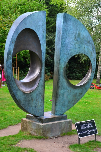 Two Forms (Divided Circle) by Barbara Hepworth