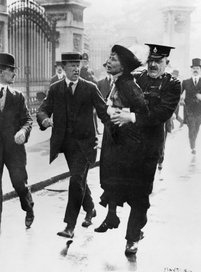 Pankhurst is arrested by police outside Buckingham Palace