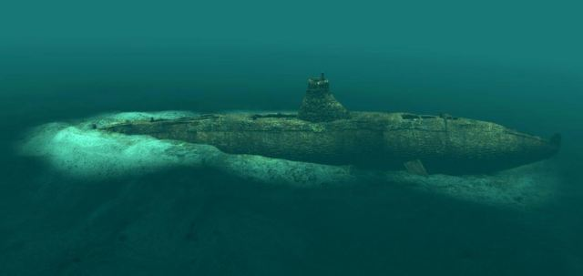 HM Submarine A1, off Isle of Wight