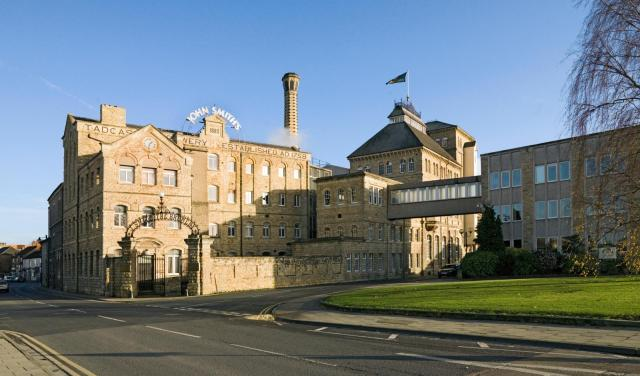 Exterior of John Smith's brewery in Tadcaster