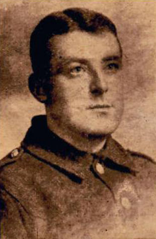 A portrait of Private Thomas Wake
