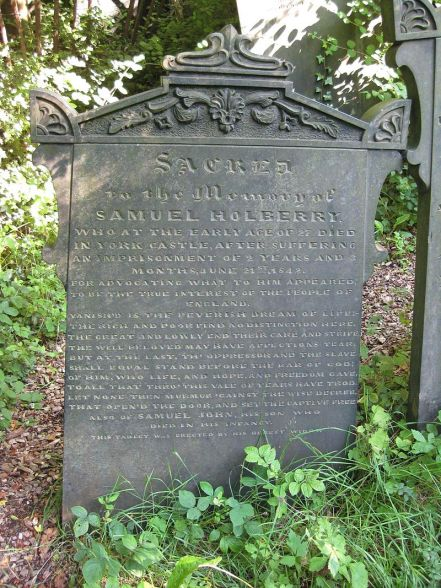 The grave of Samuel Holberry in Sheffield General Cemetery