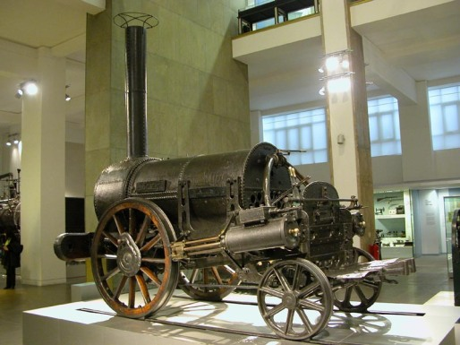 Stephenson's Rocket at the Science Museum, London.