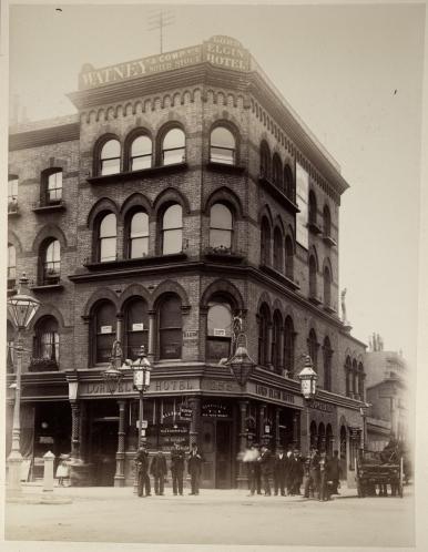 Photograph taken between 1880 -1899 of Elgin Public House