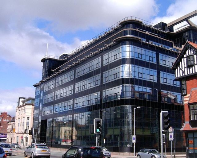 Exterior of The Daily Express Building in Manchester