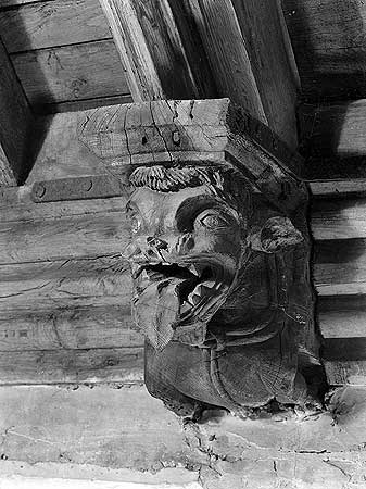 Grotesque on St John the Baptists church, Essex