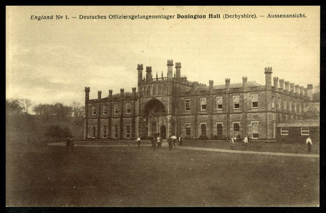Exterior view of Donington Hall prisoner of war camp, Leicestershire