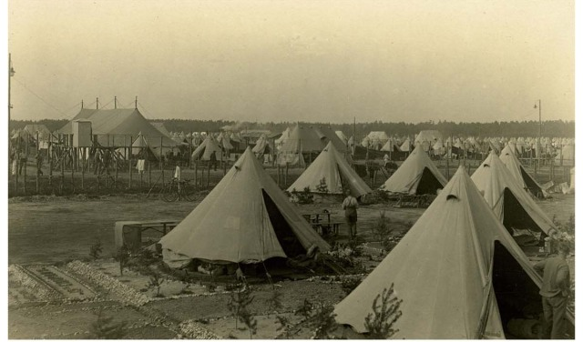 Canvas tents in varying sizes