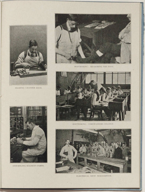 The page of a report with a number of images of soldiers in retraining