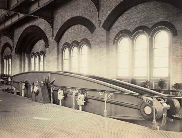 Archive image of one of the four beam engines.