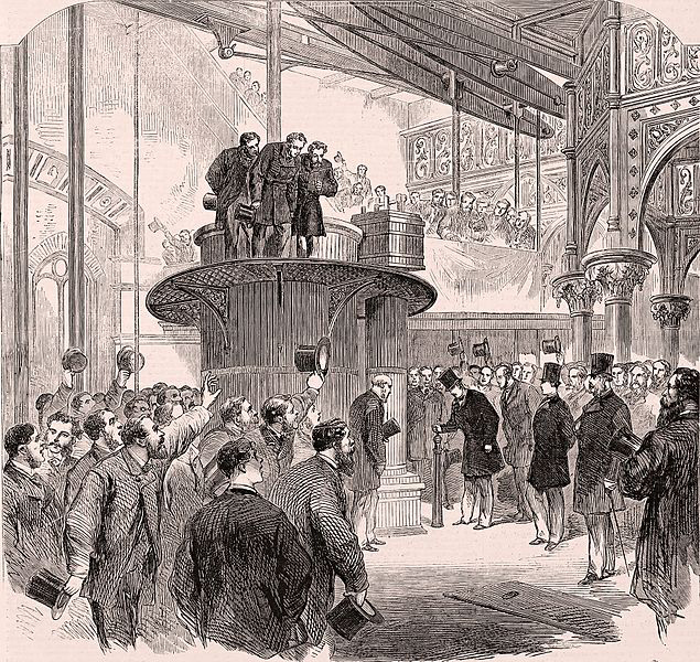 Sketch of The Prince of Wales opening Crossness pumping station