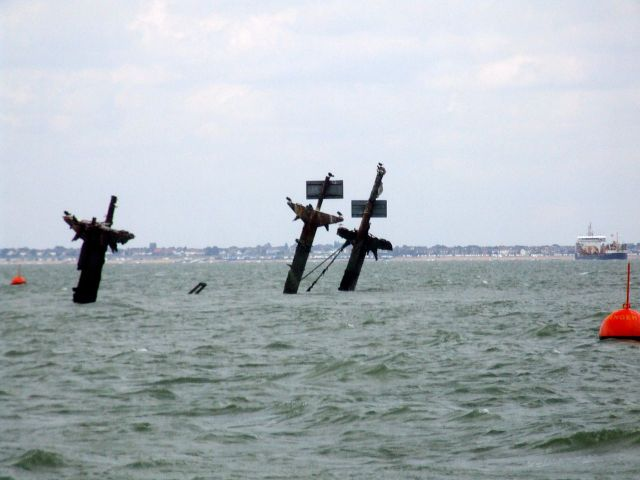 Visible remnants of the SS Montgomery