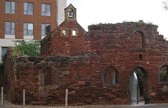 BLOG EXETER st catherines almhouses ruins memorial barry lewis