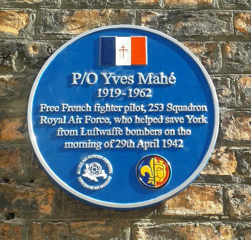 BLOG YORK yves mahe memorial plaque malcolm brooke military histories